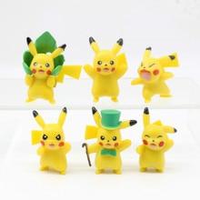 Mini Pokemon Toys Creative Pikachu Figure Dolls Action Figures Toy Cartoon Pikachu Model Cake Ornaments Decoration Kids Gift