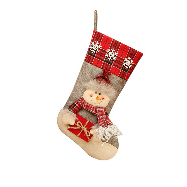 Christmas Decoration Christmas Socks Ornaments Pendant Small Boots Children New Year Candy Bag Gift Fireplace Tree Jewelry 6