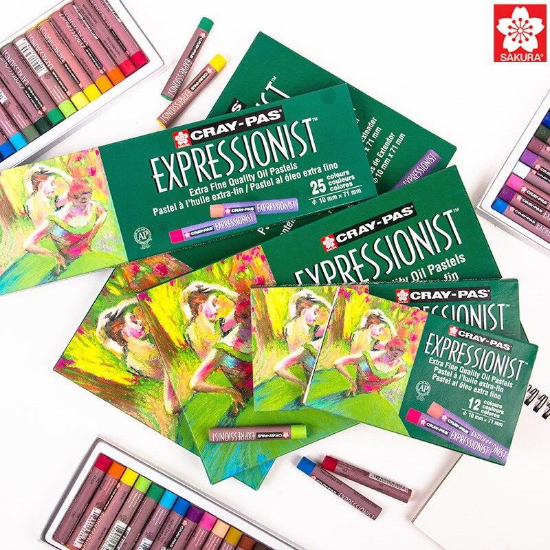1Set Sakura Cray-Pas Expressionist Oil Pastel XLP 12/16/25/36/50 Assorted Color Optional Children Graffiti Color Crayon Suit