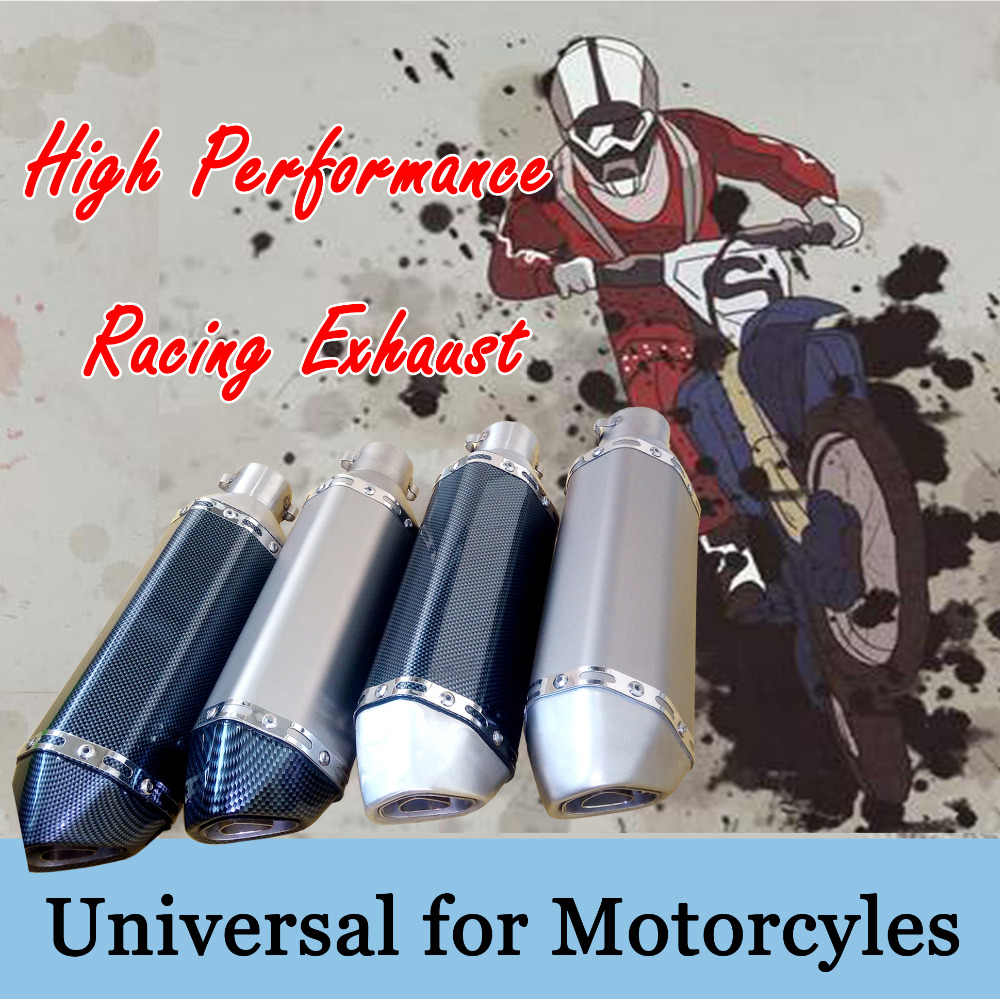 Racing Uitlaat Universal 35-51 MM Uitlaat Pijp moto escape Fit voor meest moto rcycle ATV Dirt bike Scooter 125-1000cc