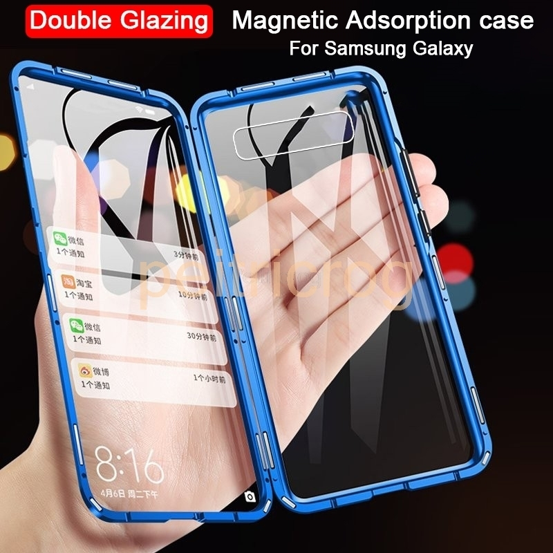 360 Magnetic Double-side <font><b>Glass</b></font> <font><b>Case</b></font> For <font><b>Samsung</b></font> Galaxy S10e S10 plus S8 S9 Metal Frame Tempered <font><b>Glass</b></font> Cover <font><b>Cases</b></font> For <font><b>A50</b></font> A70 image