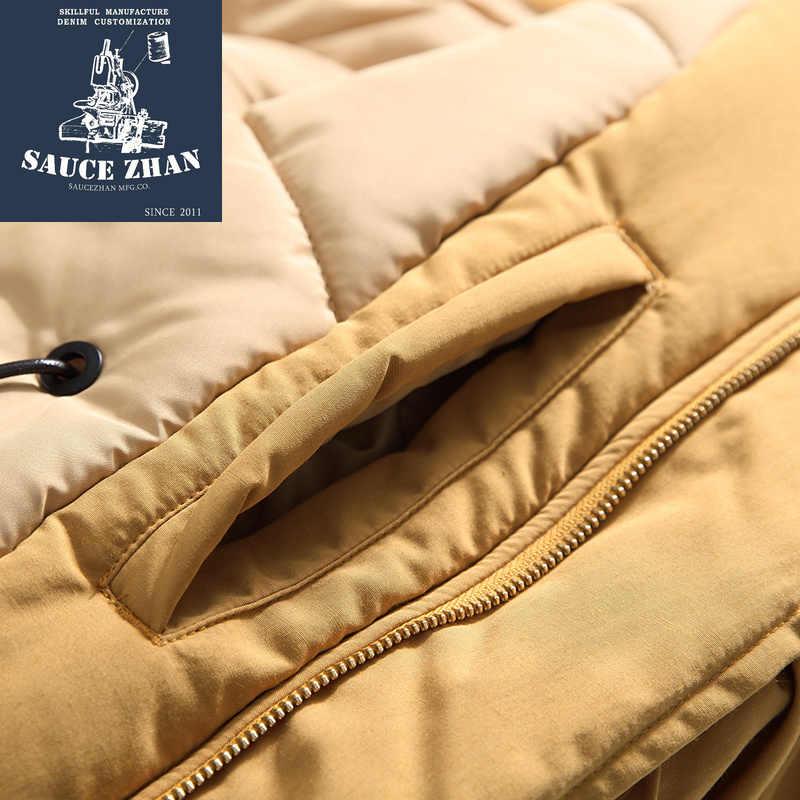 SauceZhan N3B JACKE Winter Jacke Männer N-3B USA Fliegen Parka Bomber Jacke Lange Mit Kapuze Jacke Pelz Kragen Baumwolle Dicken Mantel