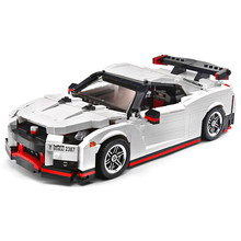 Building Blocks For MOC-25326 Sports Car Series Nissan GT-R Technic Diy Toy For Boys Children Bricks Toys Christmas Gifts(China)