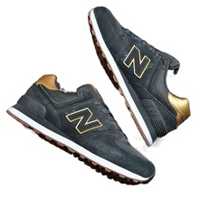 Sports shoes men's  cool running NB leisure plus size summer leather tourism N retro running shoes women