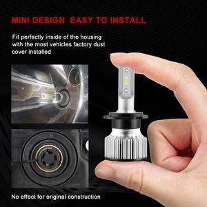 Image 3 - 2 Chiếc H1 LED 13000LM Mini Bóng Đèn Pha H7 LED H4 H8 H9 H11 Đèn Pha Bộ 9005 HB3 9006 HB4 9012 Tự Động Đèn LED Ánh Sáng
