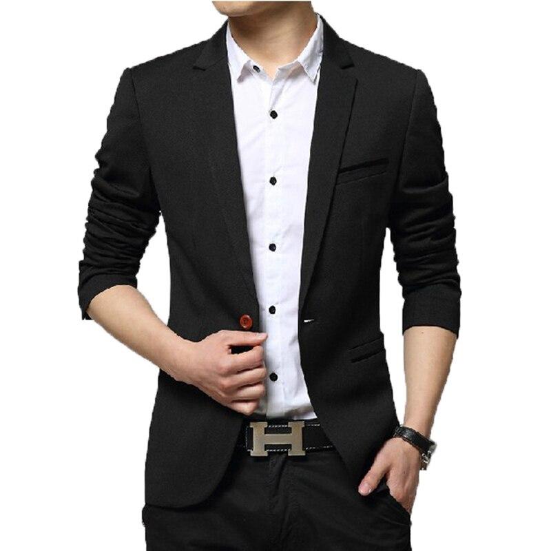 BROWON 2021 Autumn Winter New Suits Blazer Mens Korean Slim Solid Color Smart Casual Coat Business Mens Suits Jacket Suit Blazer
