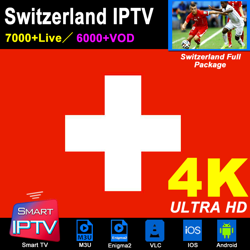 Switzerland IPTV Subscription M3U Abonnement IPTV Spain France Italy Germany Portugal Android Samsung Smart TV MAG Box Enigma2