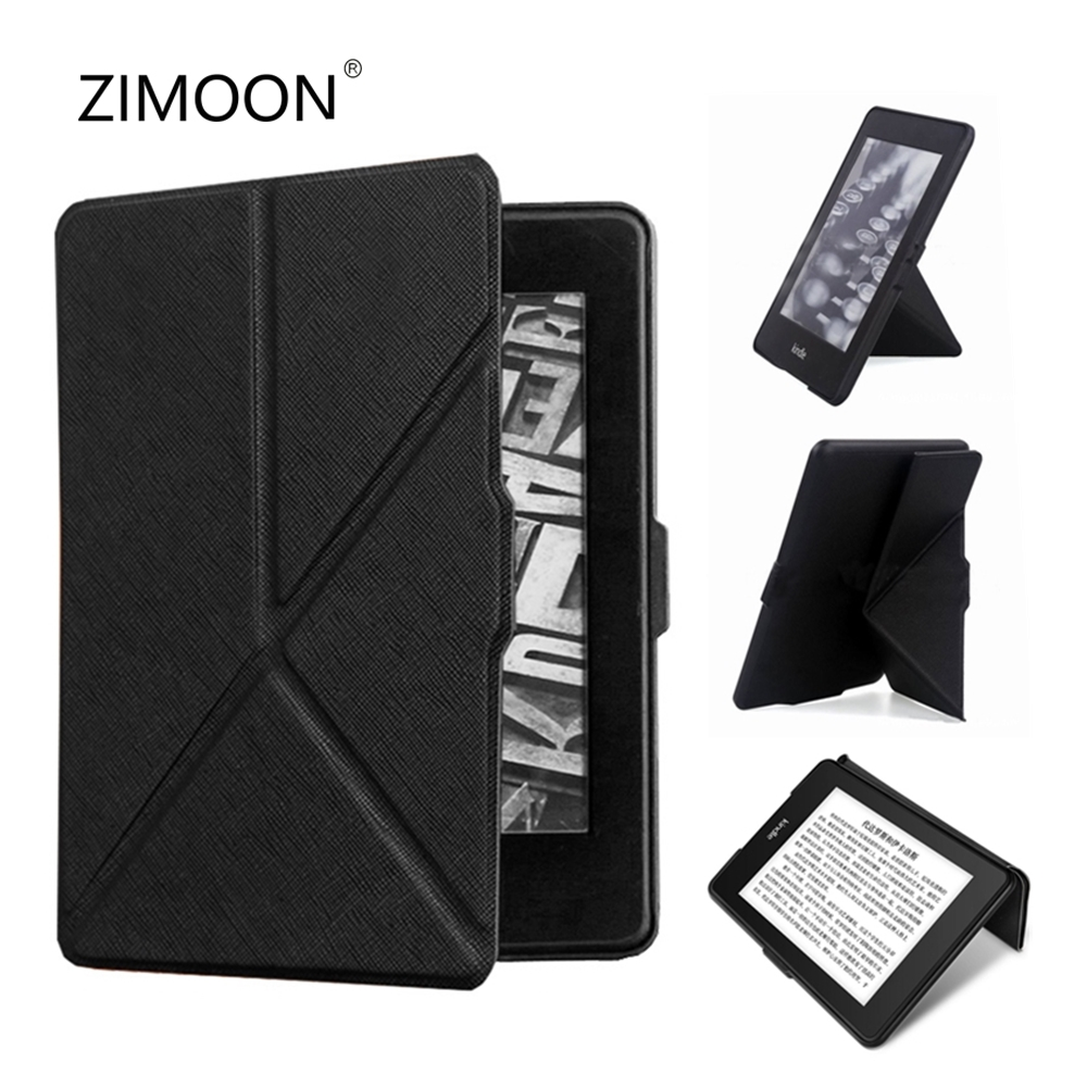 Kindle Paperwhite 2 3 Foldable Case PU Leather Smart Cover For Amazon Paperwhite 1/2/3 With Stander Holder 6' E-book Shell
