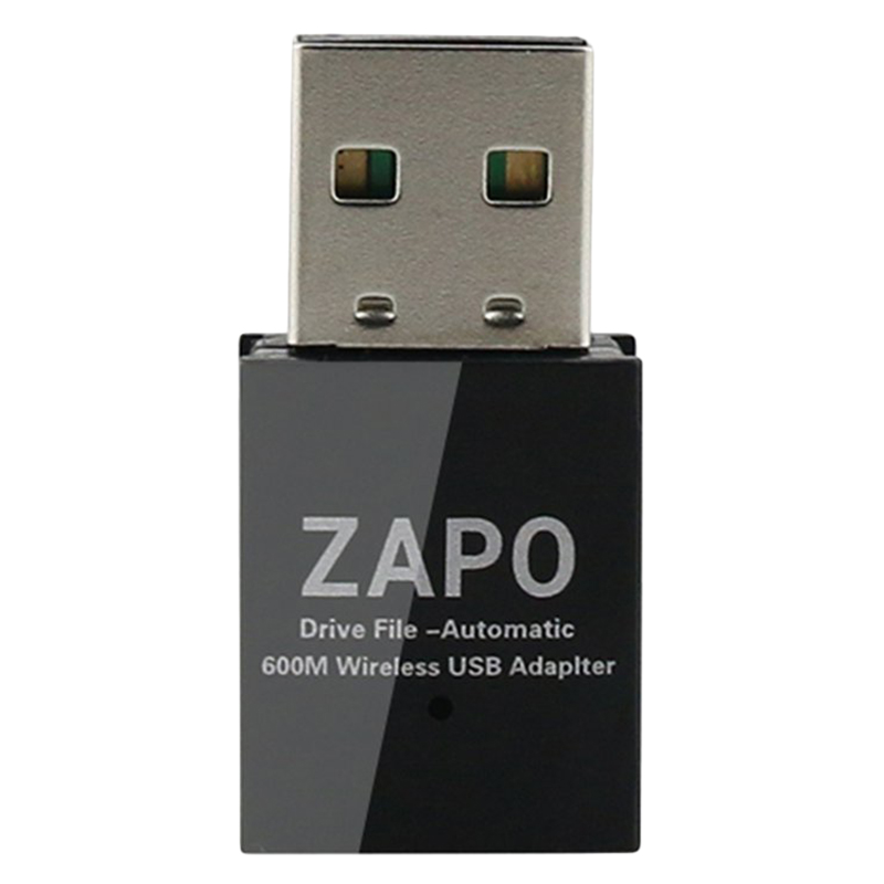 ZAPO W59 No Drive File 2.4G & 5G Wifi Usb Adapter Wireless Ac 600Mbps Double Antennas Network Card For All Windows Linux Syste
