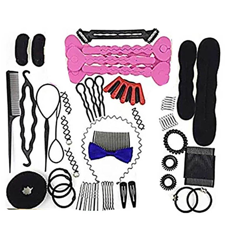 47pc Hair Styling Accessories Kit Hair Bun Maker Hair Accessorie for Women Girl High Quality and Brand New|Hair Trimmers| |  - title=