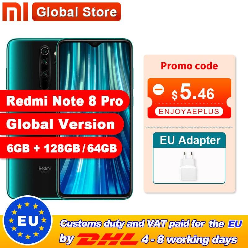 Global Version Xiaomi Redmi Note 8 Pro 6GB 128GB / 64GB Smartphone 64MP Quad Camera Helio G90T Octa Core 4500mAh NFC(China)