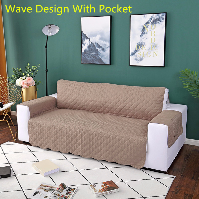 Update Washable Sofa Couch Cover Pet Dog Kids Chair Mat Furniture Protector Reversible Removable Armrest Slipcover 1/2/3 Seat 1