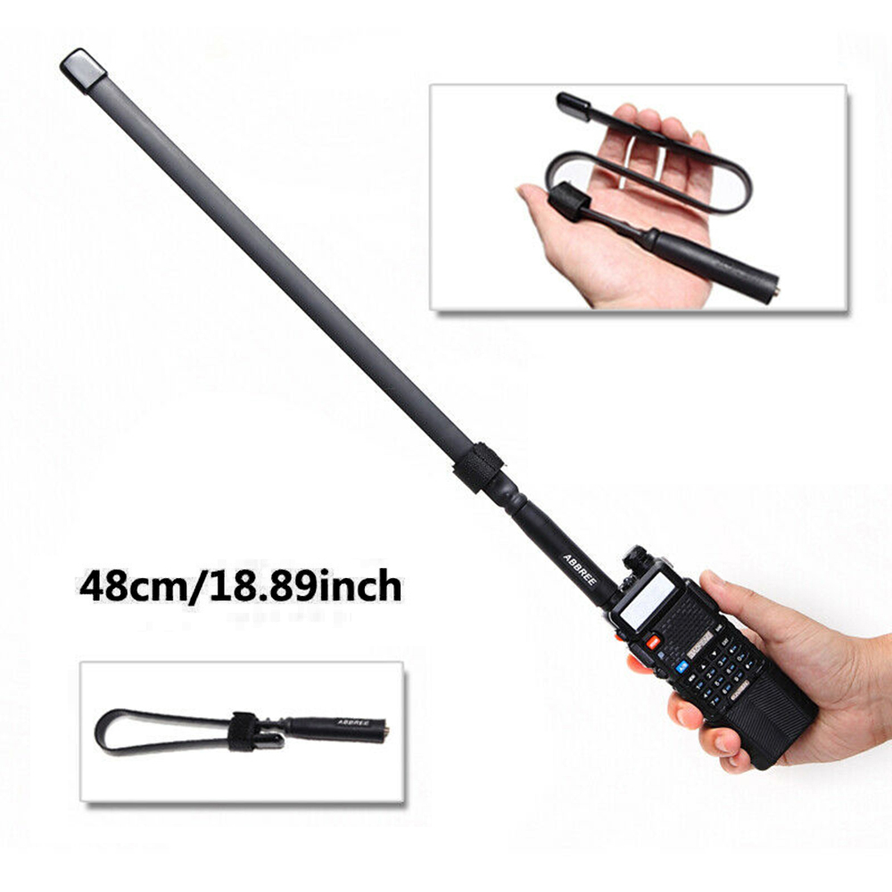 Fodable Tactical Antenna SMA-Female For Baofeng UV-5R / 82 Two Way Radio  Eextend The Range Of Your Communication