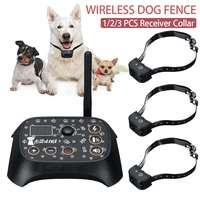 USB Dog Collar Electronic Wireless Pet Dog Fence Dog Training Collar Containment System Waterproof 1/2/3PCS Transmitter Collar