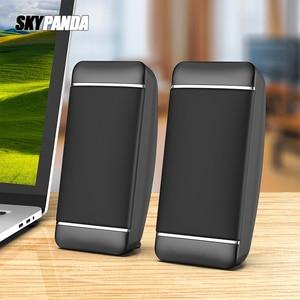 Проводные компьютерные колонки, 2 шт., USB + AUX мини-Колонка для ноутбука, настольного телефона, 5 Вт, аудио, мультимедийный громкоговоритель