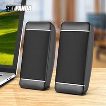 2 adet kablolu bilgisayar hoparlörleri USB + AUX Mini PC hoparlör dizüstü masaüstü telefonu için 5W ses multimedya hoparlör