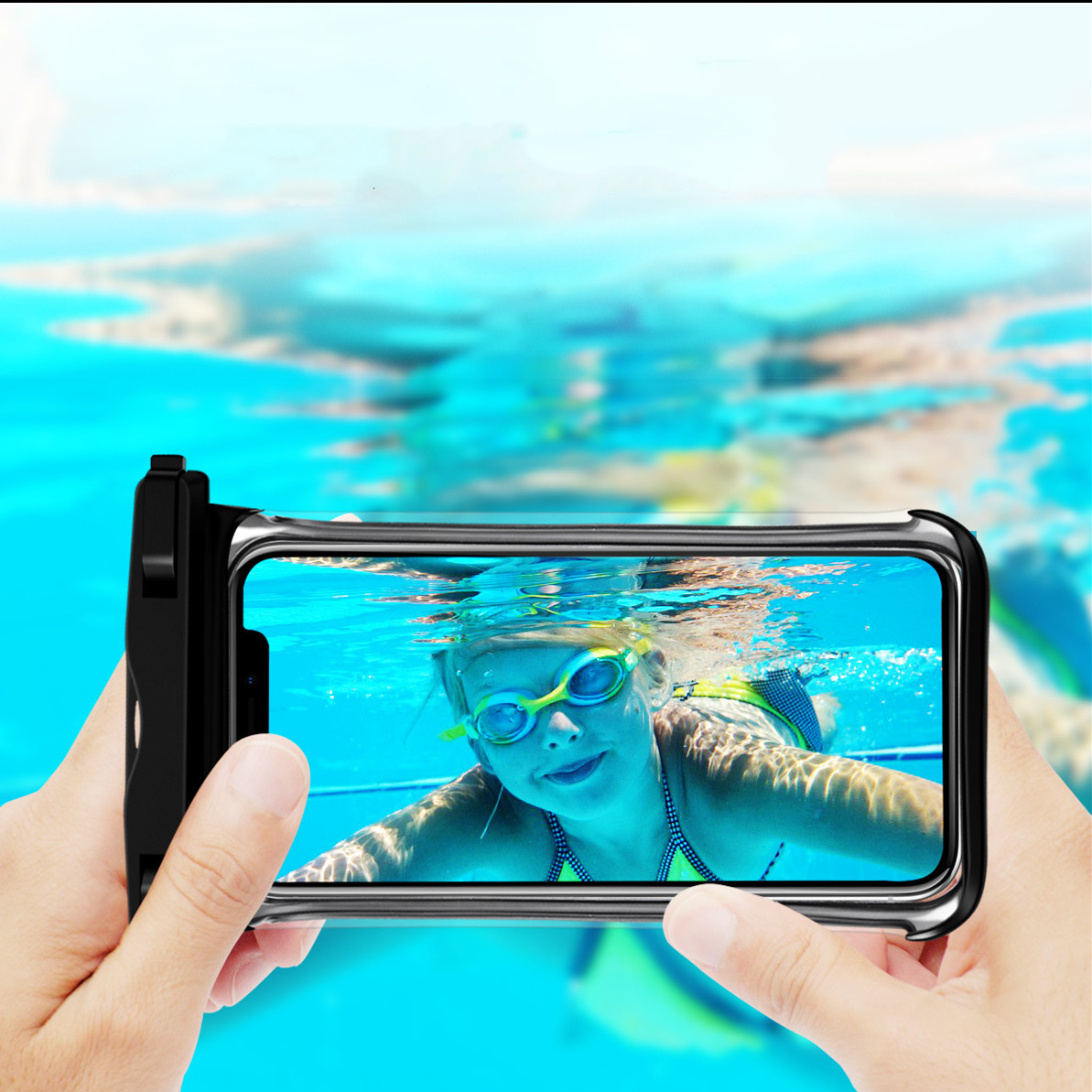 Hcd78978d3ce6414bba63ff6e693180afk - Full View Waterproof Swimming Pouch Case for Phone Underwater Snow Rainforest Transparent Dry Bag Big Mobile Phone Bag Sealed