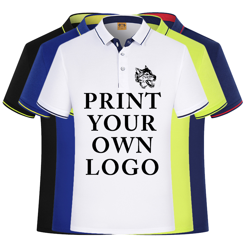 Silk Cotton Custom Shirts For Your Family Team Primary Logo Team Color Polo College University Logo Design Personalized Shirts Polo Aliexpress