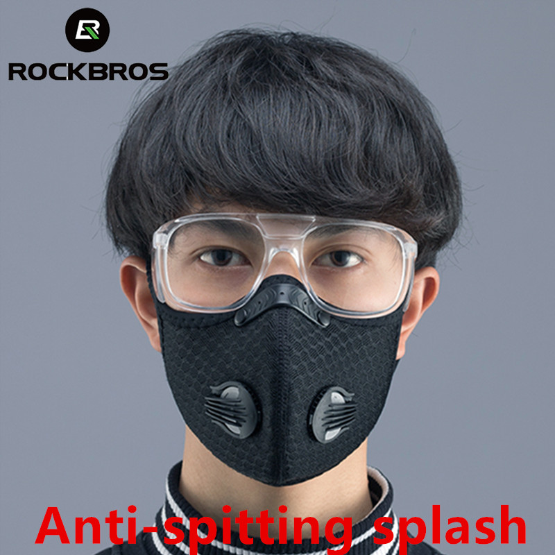 ROCKBROS Outdoor Anti-Fog Cycling Glasses Bike Bicycle Protection Goggles Eyewear Dust-proof Coronavirus Mask Sports Mask