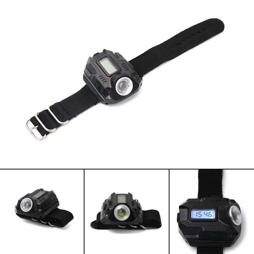 2019 New product Super Bright Wrist LED Light Flashlight <font><b>Watch</b></font> Portable Rechargeable for Climbing Camping J8 #3 image