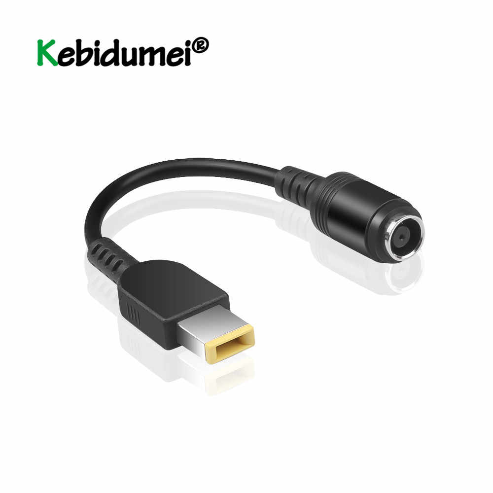 7.9*5.5mm okrągły Jack do kwadratu koniec Adapter wtyk żeński interfejs konwerter zasilania kabel do IBM dla Lenovo Thinkpad ultrabook