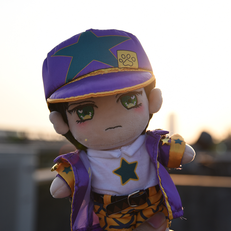 2019 Japanese Anime JoJo's Bizarre Adventure Kujo Jotaro Cosplay Dress Up Plush Doll Cute Toys Christmas Gift 20cm