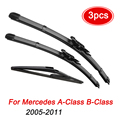 Щетки стеклоочистителя MIDOON для Mercedes-Benz A-Class B-Class W169 W245, передний и задний комплект 2011 2010 2009 2008 2007 2006 2005 26 дюймов 23 дюйма 12 дюймов