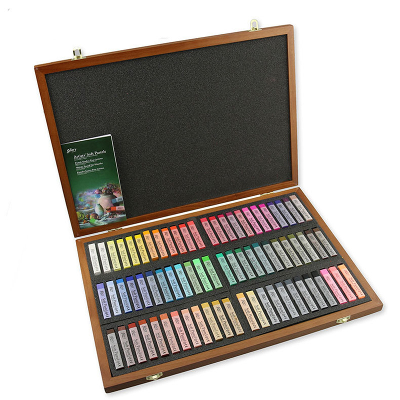 12/72 Colors Painting Chalk Set  Drawing Line Stick Toner Portable Smooth Hair Dye Soft Pastel Set Gray Series