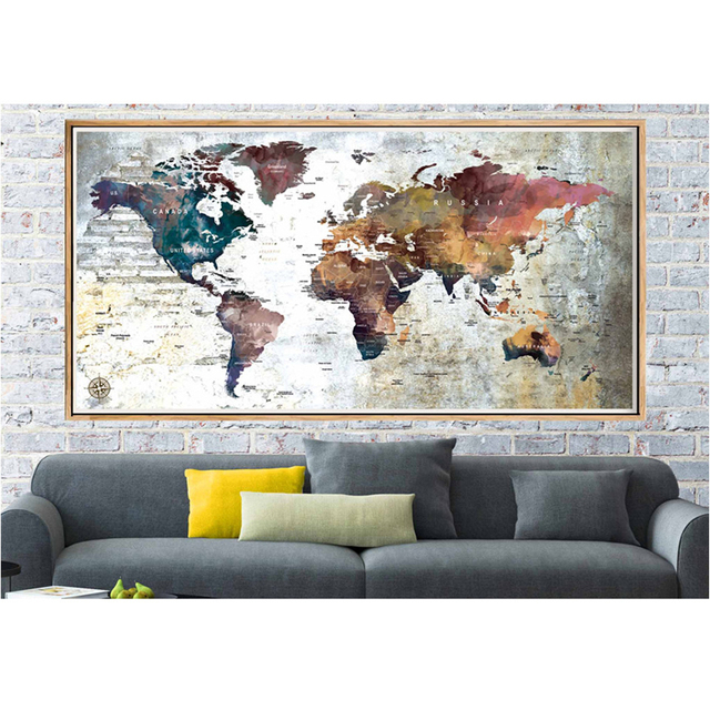 5d mosaic abstract world travel map large diy diamond embroidery full square round diamond painting needlework