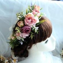 Новинка 2020 свадебный венок имитация цветов головной убор для