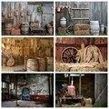 Laeacco старый Сельский деревянный склад ферма Jar крыльцо Пол Детский портрет фото фоны для фотосъемки для фотостудии
