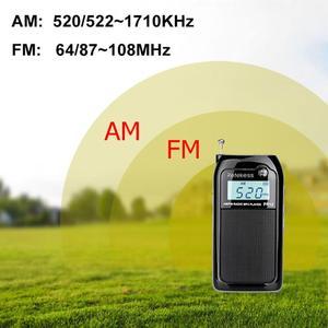 Image 5 - Retekess PR12 Mini kieszeń Radio FM AM cyfrowe Tuning odbiornik radiowy 9K/10K MP3 odtwarzacz muzyczny akumulator Radio przenośne