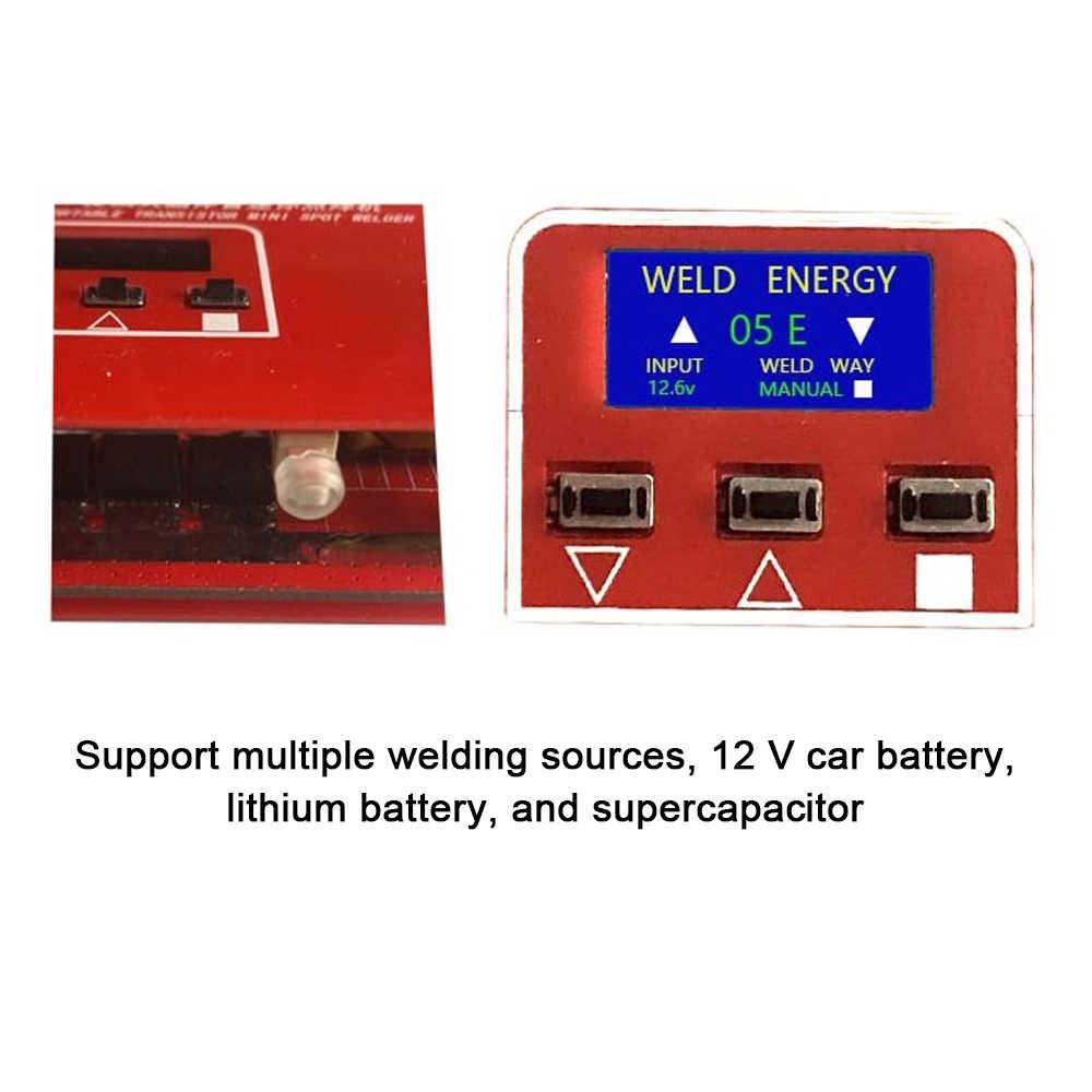 18650 batteria al litio per condensatore Ladieshow Mini Spot Welder Machine Portable DIY Transistor Spot Welder con penna saldante