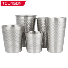 304 stainless steel wine glass with pattern Stainless steel water cup Portable cup Beer mug