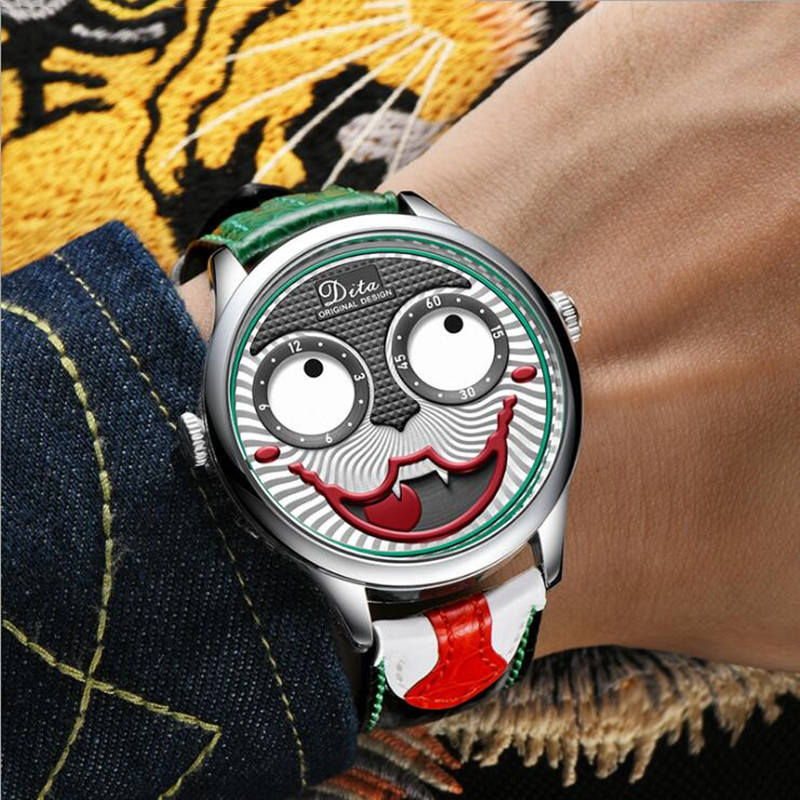 Sports Watches Clown Men Watch Fashion Male Quartz Watch  Men WristWatch with Box Relogio Masculino