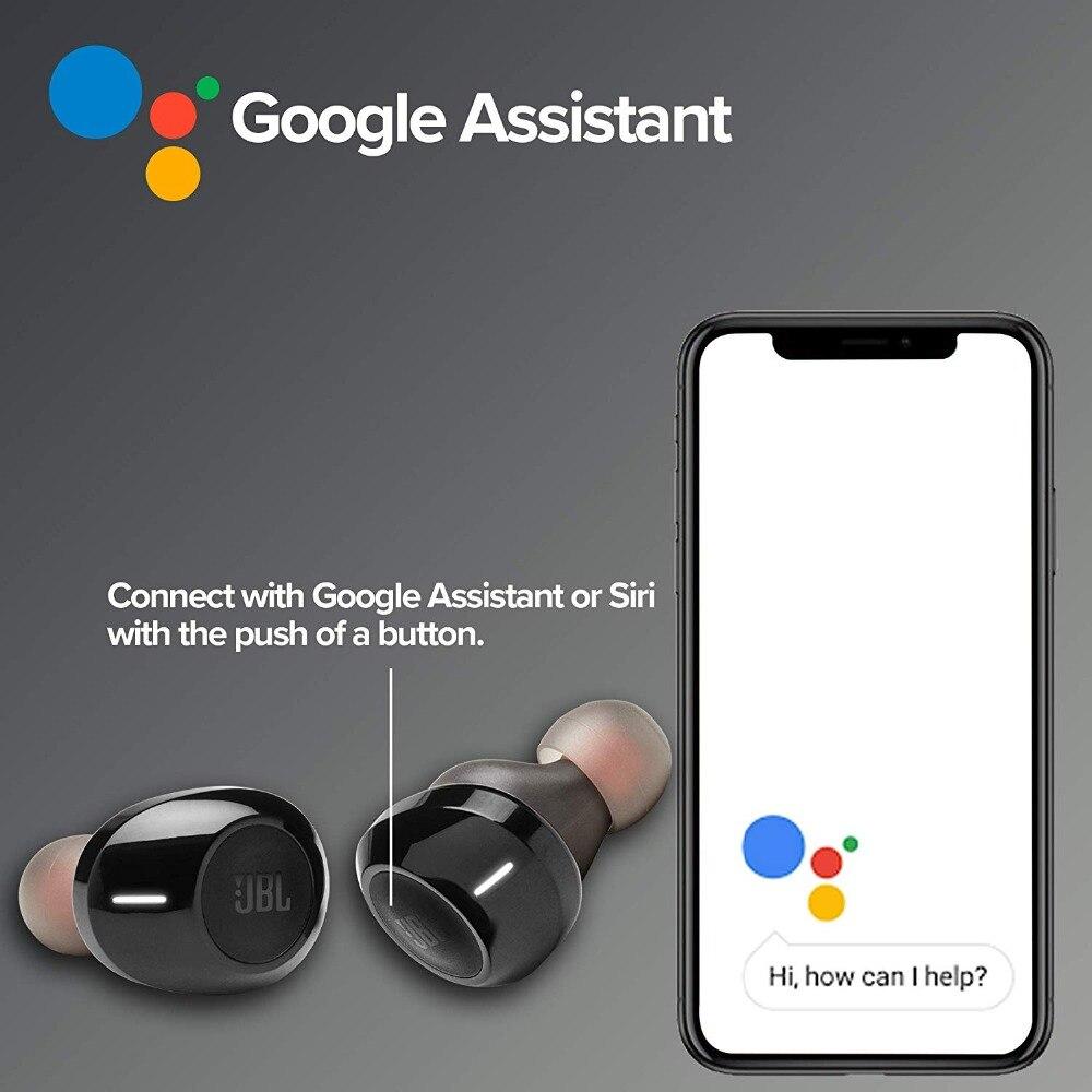 Słuchawki posiadają wbudowany przycisk uruchamiający siri lub Google Assistant.