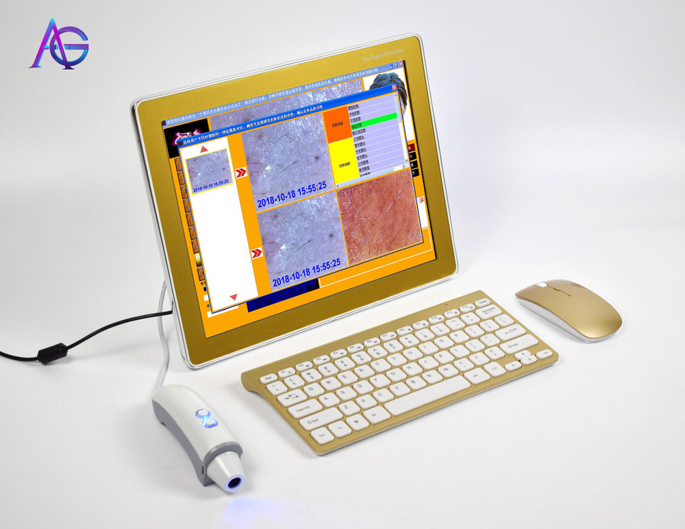 Professional 3D Digital Skin Analysis Facial Skin Test Device For Home Salon Clinic