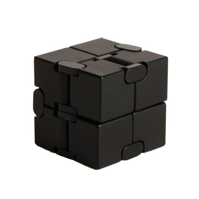 Top Quality Stress Relief Toy 100% Aluminum Alloy Metal Infinity Cube Portable Decompresses Relax Toys For Children Adults