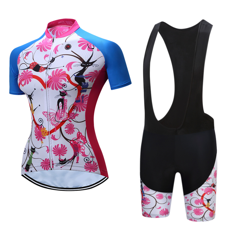 2019 Summer cycling women clothes kit sports suit bike jersey set mtb maillot ciclismo bib shorts bicycle clothing wear uniforme