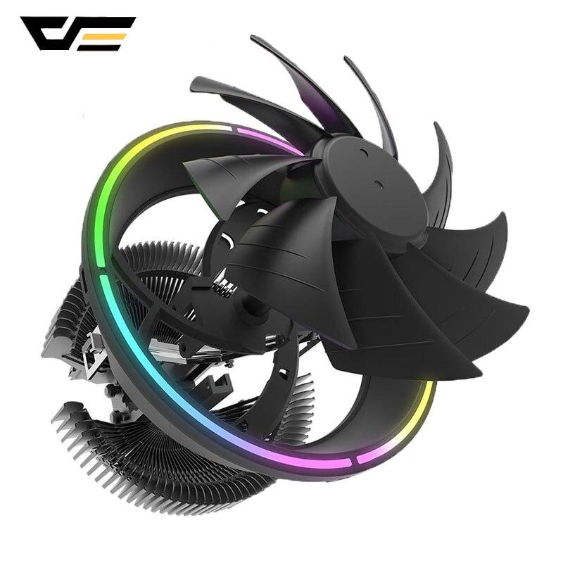 Darkflashコンピュータケースcpuクーラーrgbファン 12v 3Pin cpuクーラーラジエーターアルミLGA1366/115X/775/AM3/AM4 pc cpu冷却クーラー