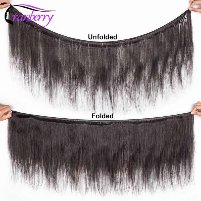 Cranberry Haar Maleisische Steil Haar 3 Bundels Lot 100% Human Hair Extensions Bundels Remy Haar Weave Bundels Gratis Verzending