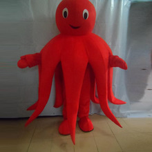 EOM mascot Real picture red octopus costume cartoon character of adult size