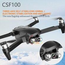 CSF100-طائرة بدون طيار مزودة بكاميرا عالية الدقة 6K ، 3 محاور ، بدون فرش ، تصوير جوي RC ، قابلة للطي ، WIFI ، FPV ، GPS ، لعبة هليكوبتر V906