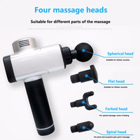 Electronic Body Massage Gun Therapy Body Massager Deep Muscle Massage Device Muscle Massage Relaxation Products 4 Files LED Guns