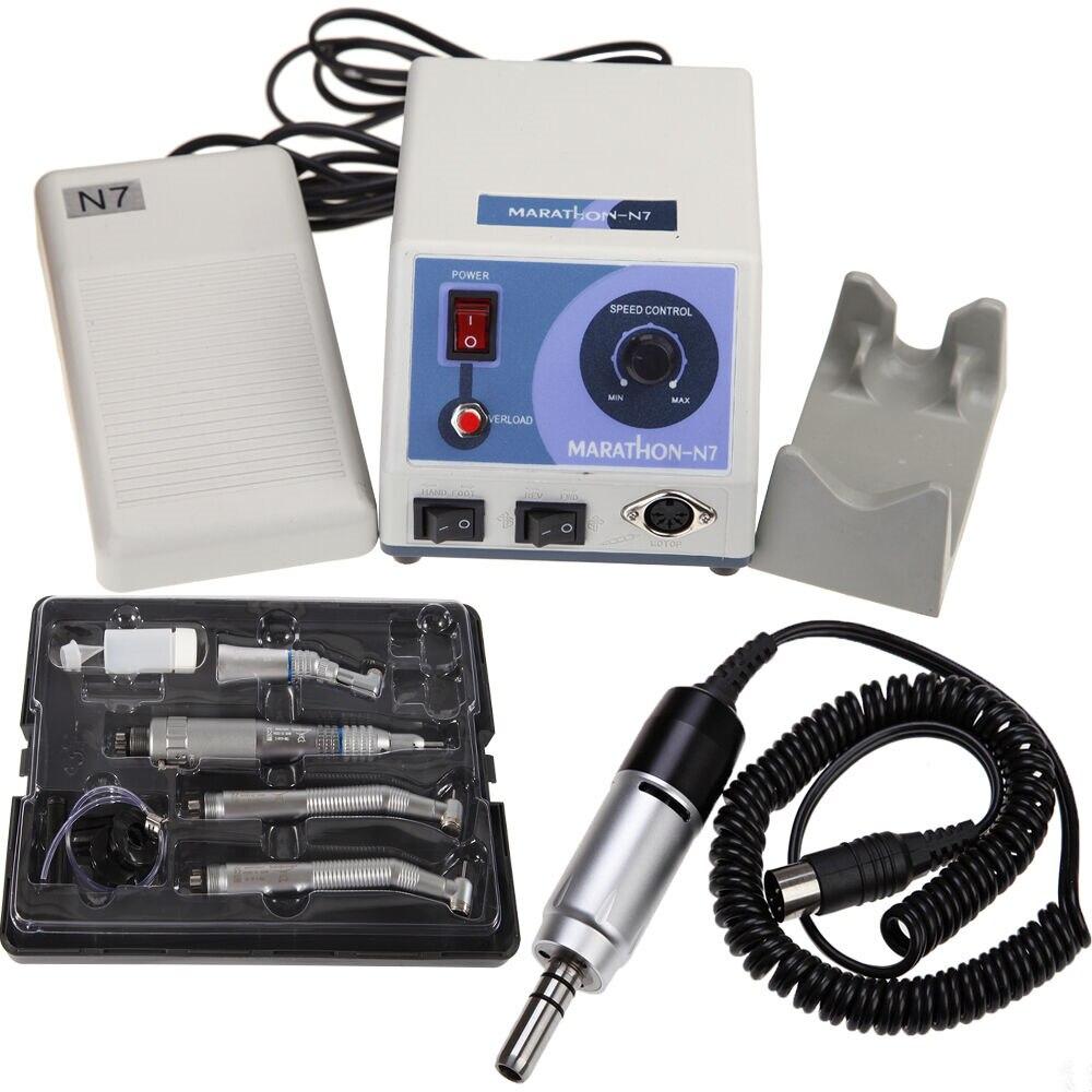 Стоматологический лабораторный марафон, Электрический микро мотор 35k об/мин + низкоскоростные наконечники, набор инструментов для полирова
