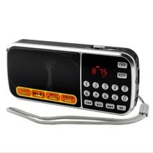 L-088 Portable HIFI Mini Speaker MP3 Audio Player Flashlight Amplifier Micro SD TF FM Radio