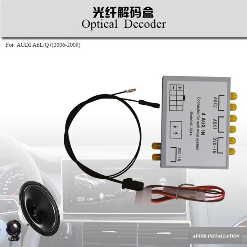Optical box Audio interface decoder for Audi A6L /Q7 (2005-2014)