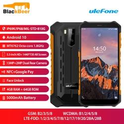 Ulefone Armor X5 Pro прочный мобильный телефон IP68/IP69K Водонепроницаемый 4 Гб 64 ГБ Android 10,0 смартфон с восьмиядерным процессором NFC 5000 мАч