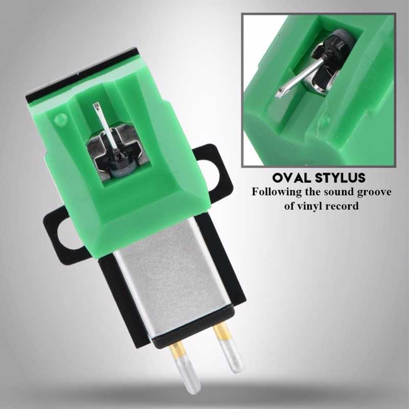 蓄音機帯電防止繊維レコードプレーヤースタイラス 13 ミリメートルピッチ記録カートリッジビニールスタイラス針ため AT95E ビニールレコード 1080P