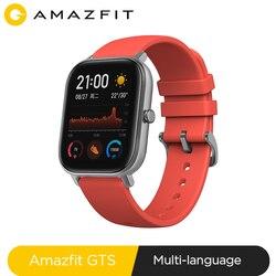 Глобальная версия Amazfit GTS Смарт-часы 5ATM водонепроницаемые плавательные Смарт-часы Новые 14 дней батарея Editible Widgets для Xiaomi
